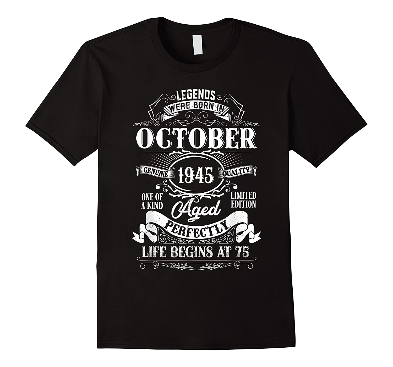 Vintage October 1945 75th Birthday Gifts For 75 Years Old Shirts