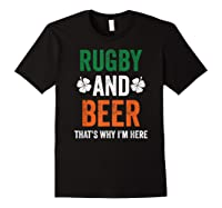 Rugby And Beer Funny Alcohol Outs For St Patricks Day T-shirt Black