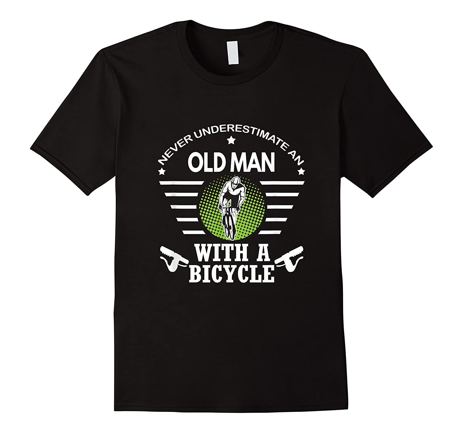 Never Underestimate Old Man With Bicycle Bike Shirts