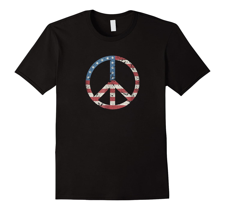 Peace Vintage American Flag Shirts