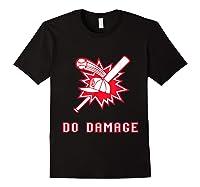 Done Damage Red Boston Championship Baseball Fan Awesome T-shirt Black