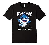 Baby Shark Doo Doo Birthday Party Gifts Girl Boy Out T-shirt Black