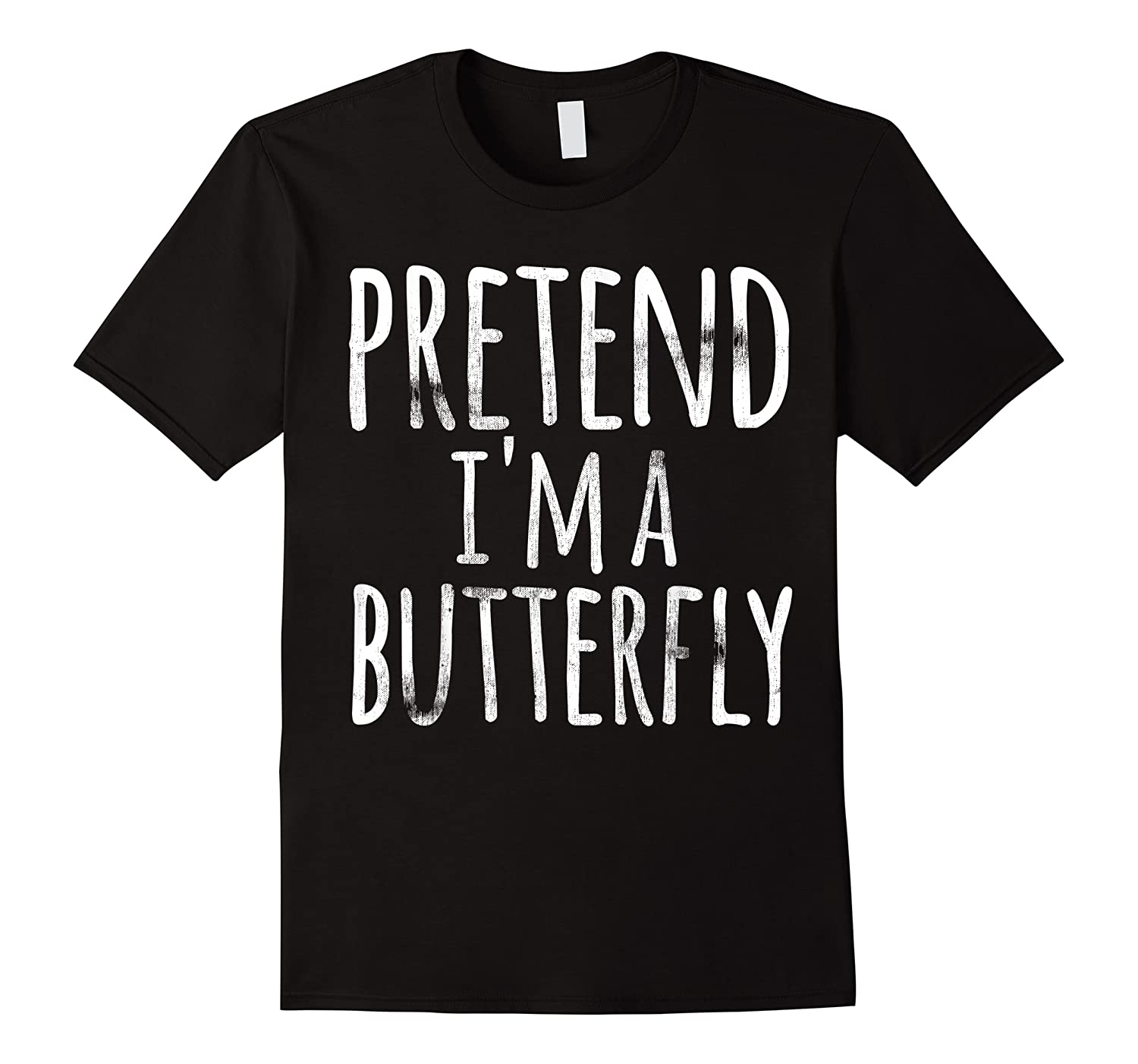 Funny Easy Lazy Halloween Pretend I'm A Butterfly Costume Shirts