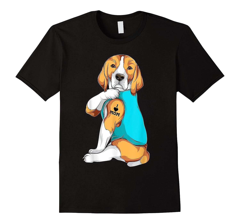 Beagle I Love Mom Apparel, Dog Mom Gifts Shirts