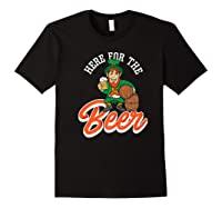 Here For The Beer | Funny St. Patrick\\'s Day Drunk Premium T-shirt Black