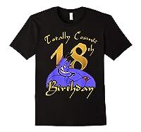 Disney Aladdin Genie Totally Cosmic 18th Birthday T-shirt Black