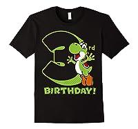 Super Mario Yoshi 3rd Birthday Action Portrait T-shirt Black