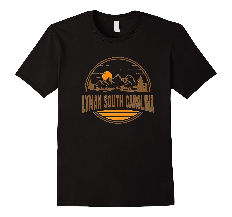 Vintage Lyman, South Carolina Mountain Hiking Print Premium T-shirt