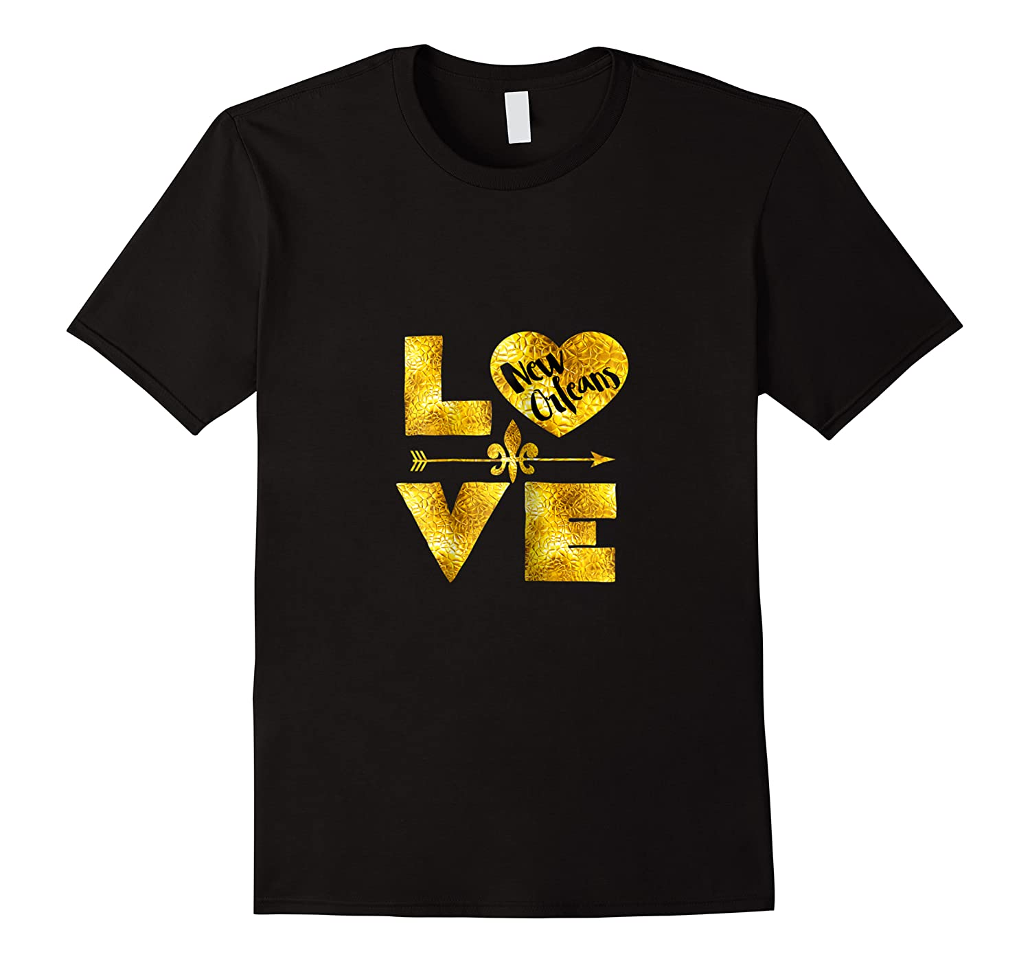 New Orleans For Women Love Nola Black And Gold Gift Shirts