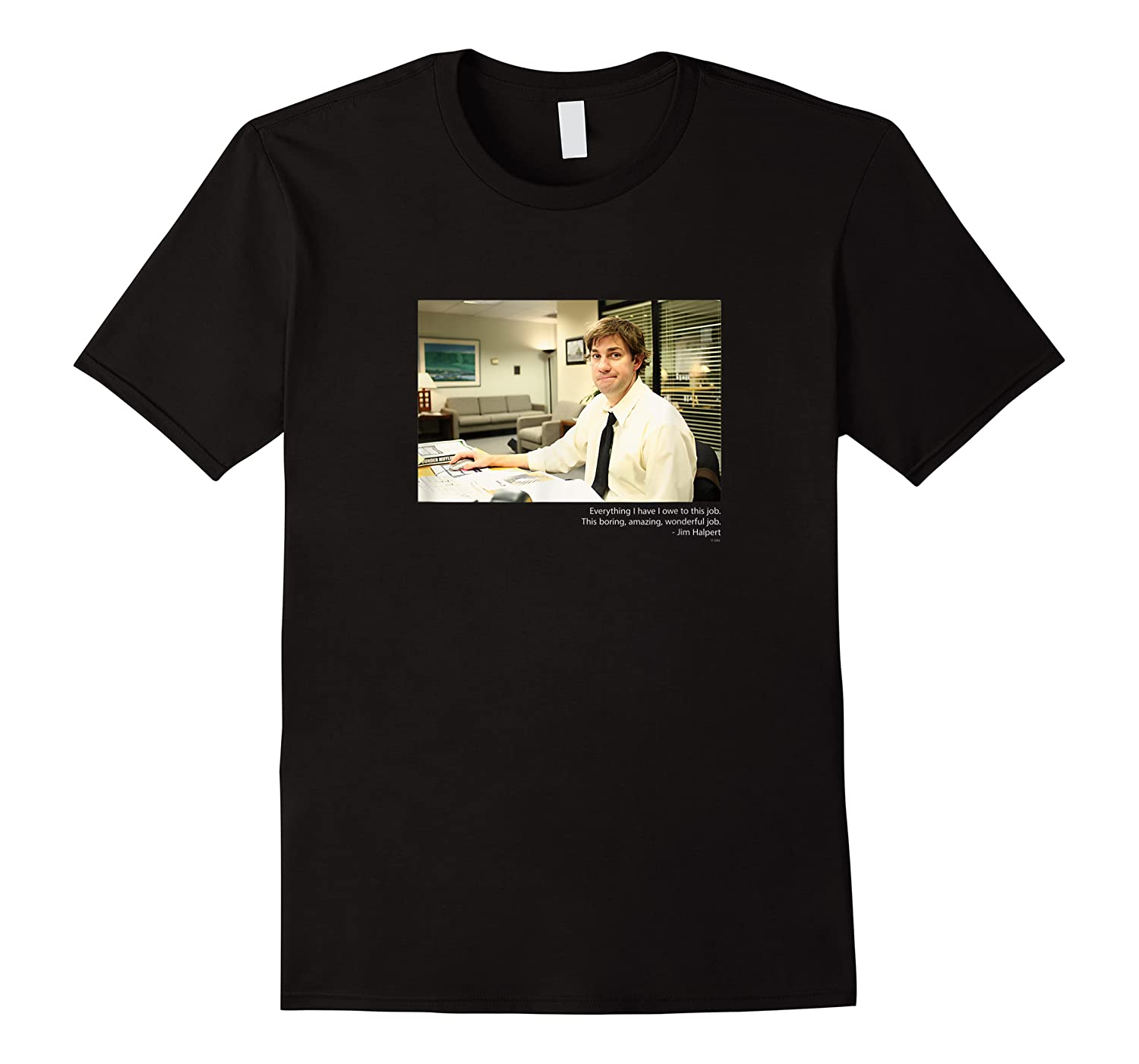 The Office Jim Smirking With Quote Shirts