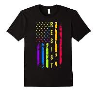 Pride Lgbt Colorful Flag Rainbow Shirts Black