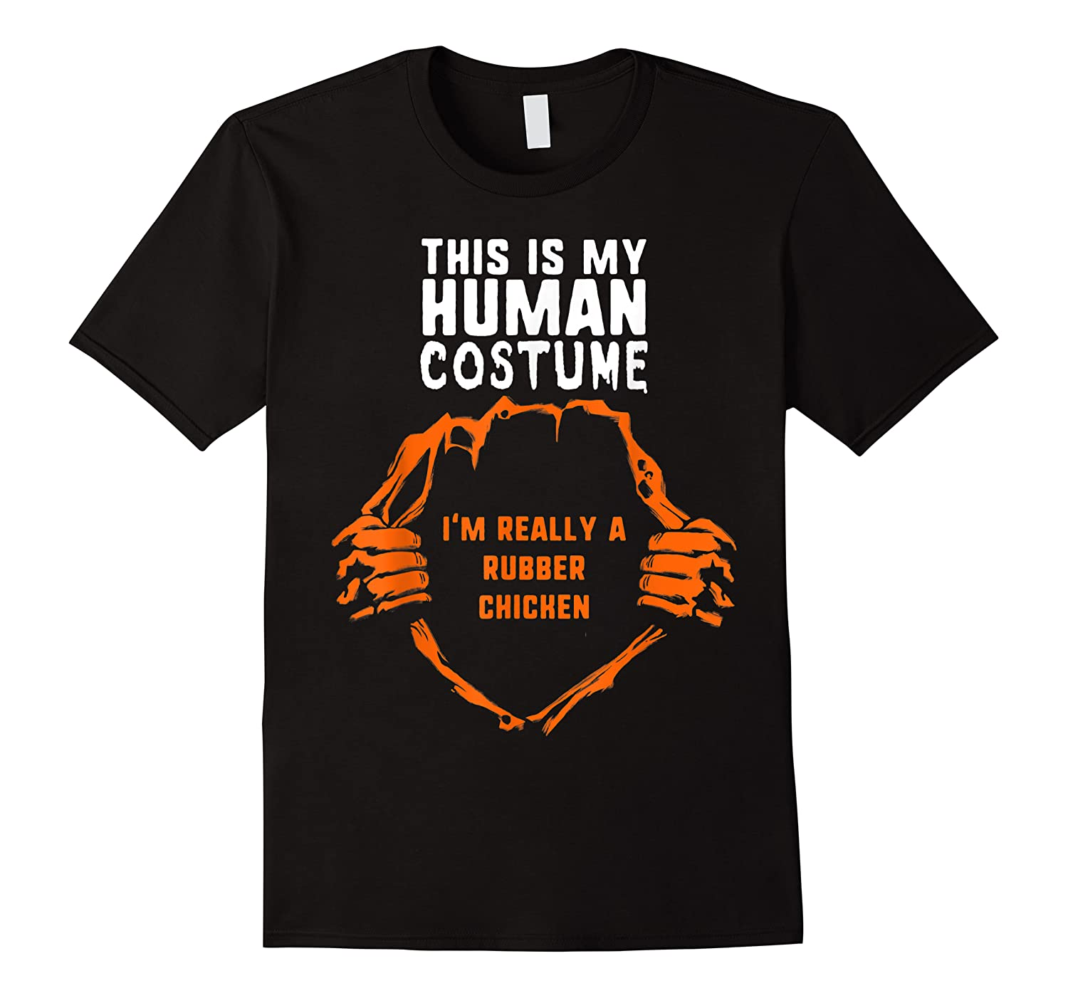 This Is My Human Costume I'm Rubber Chicken Halloween Kids Shirts