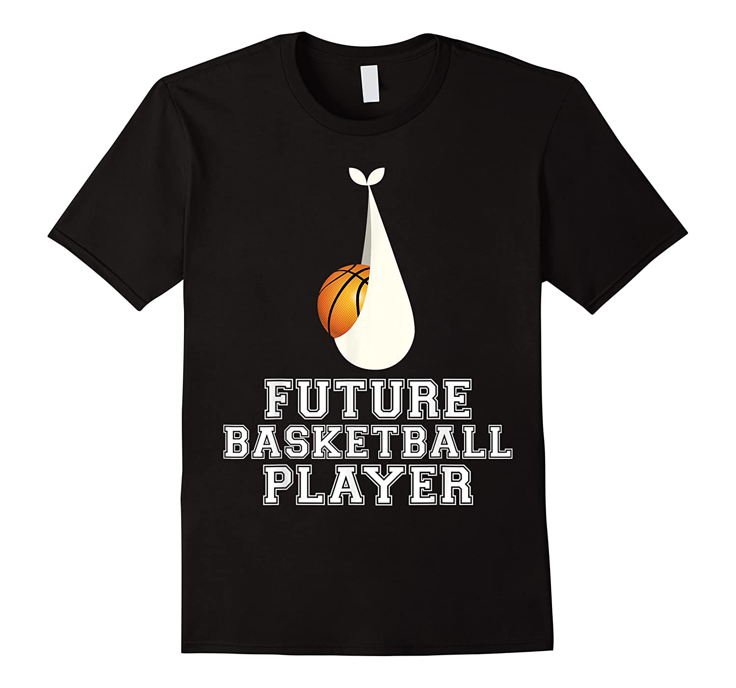Baby Is Future Basketball Player Stork Delivery Graphic Shirts
