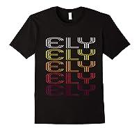 Ely, Nv Vintage Style Nevada Shirts Black