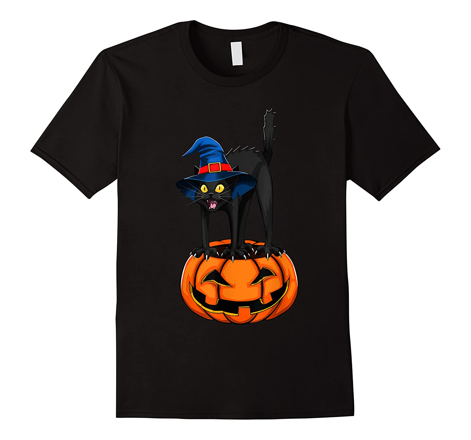 Witch Black Cat Funny Halloween Horror Scary Shirts
