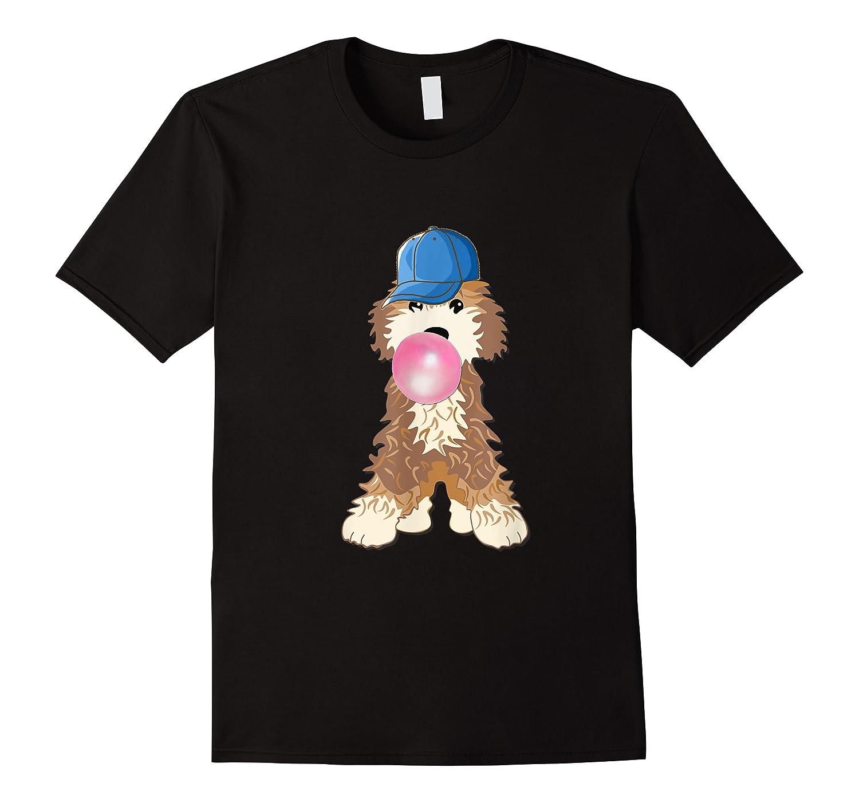 Goldendoodle Labradoodle Blowing Pink Gum Shirts