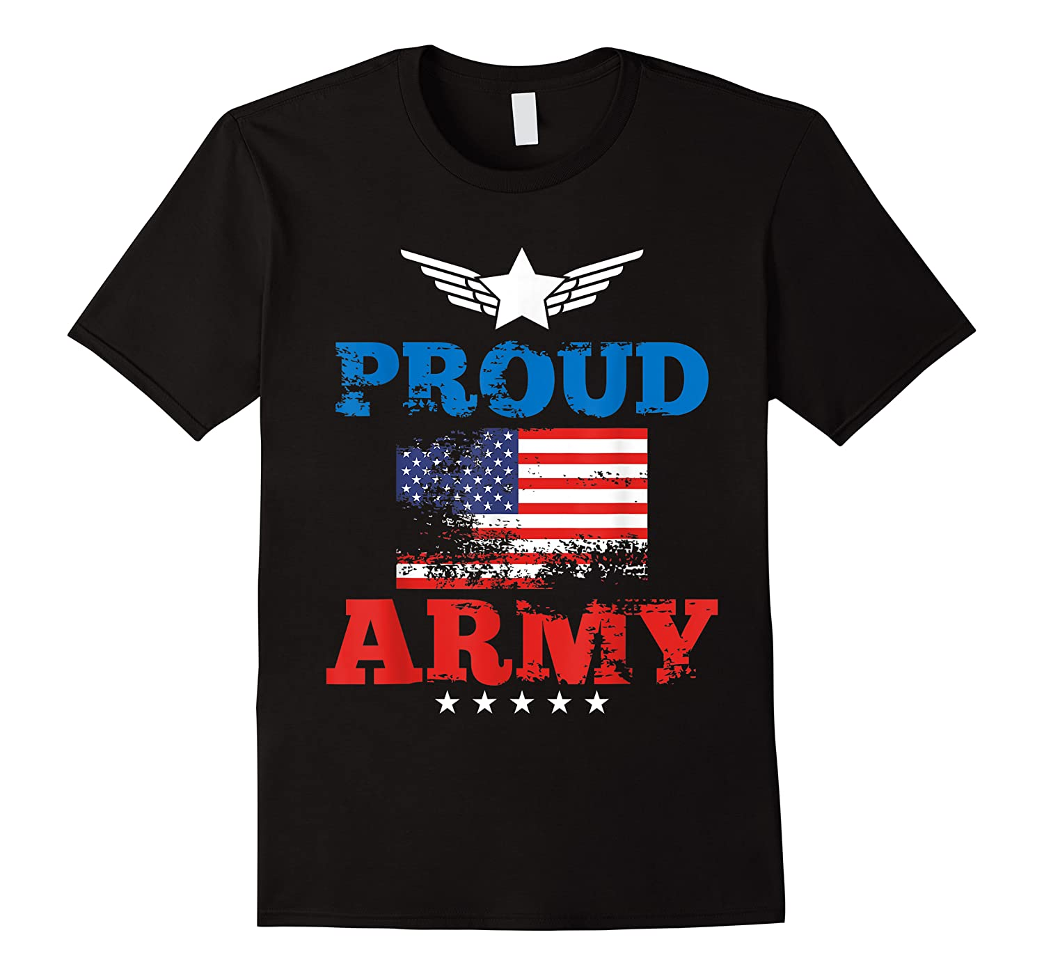Proud Army American Soldier Air Flag Honor Gift T-shirt