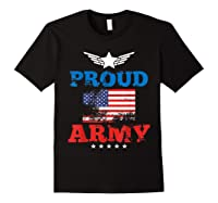 Proud Army American Soldier Air Flag Honor Gift T-shirt Black