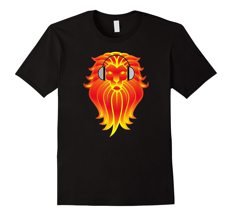 Lion Head Golden Head Phones Shirts