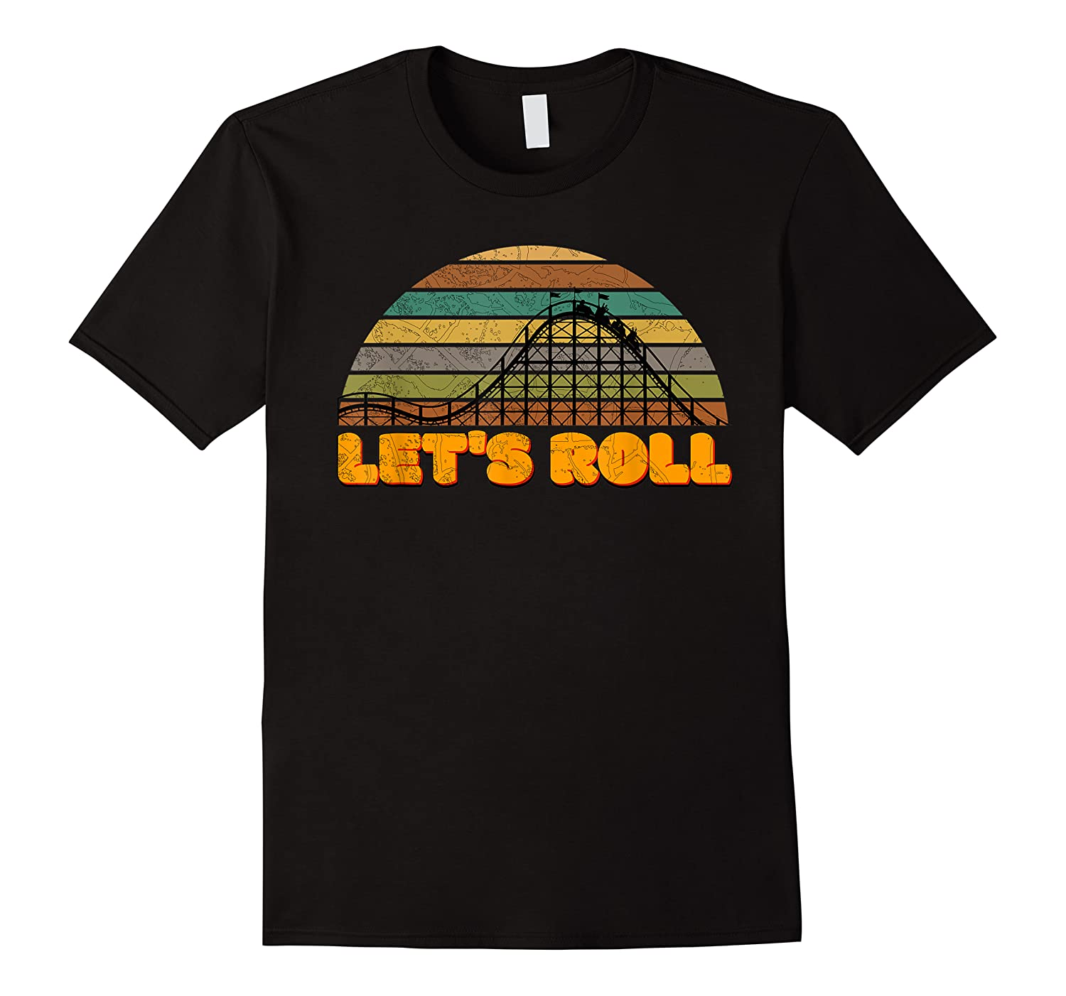 Let's Roll Roller Coaster Theme Park Vacation Distressed Shirts