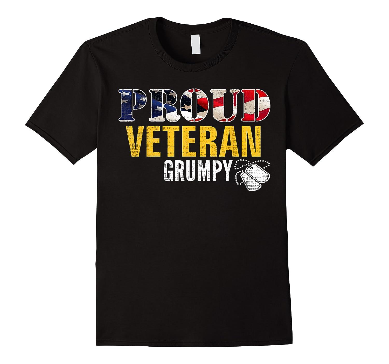 Proud Veteran Grumpy With American Flag Veteran Day Gift Shirts