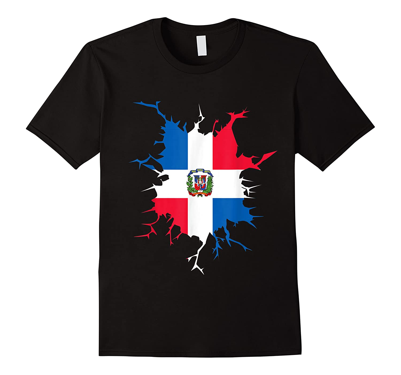 Dominican Republic Flag Inside Dominicana Republica Pride Shirts