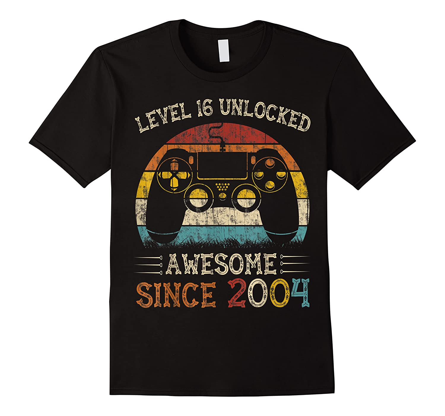 Vintage Video Level 16 Unlocked Gamers 16th Birthday Gifts Shirts