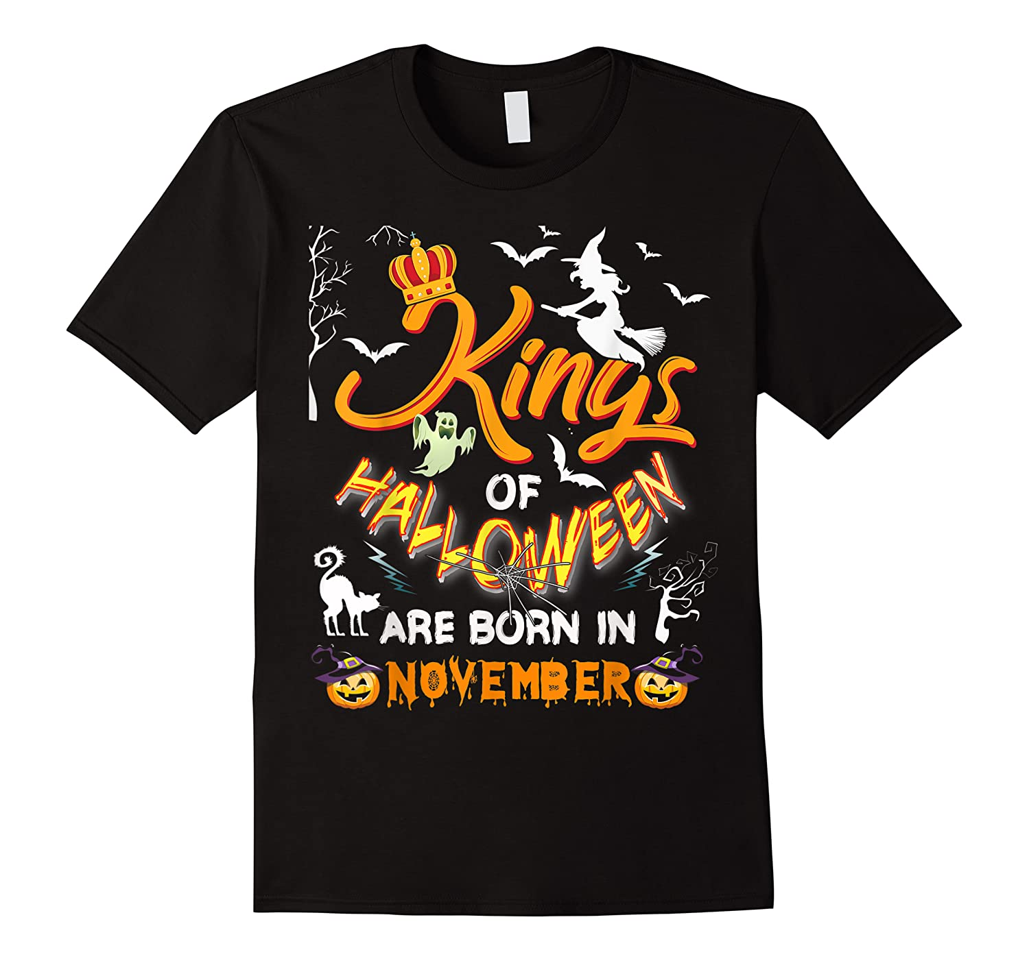 Kings Of Halloween Are Born In November Birthday Costume Shirts