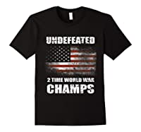 Undeted 2 Time World War T Shirt 4th Of July Shirts Gifts T-shirt Black