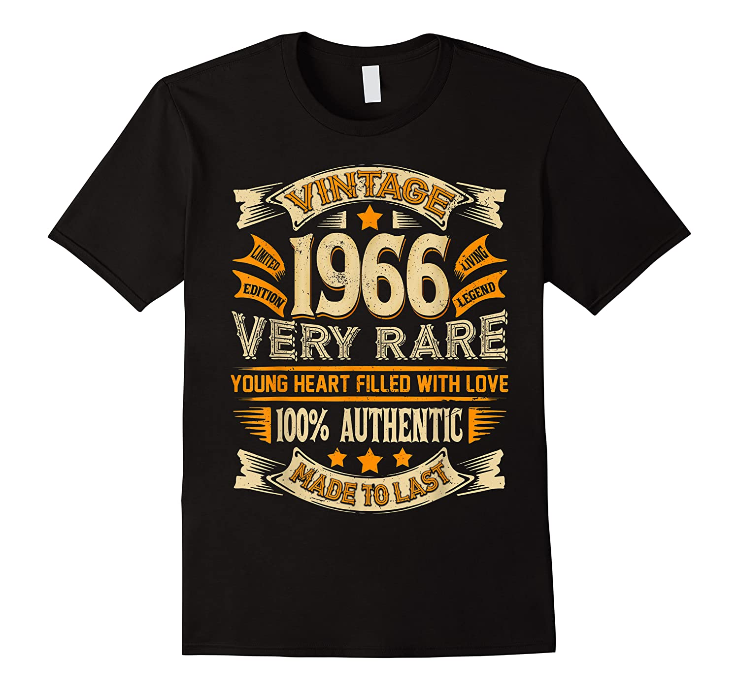 Vintage Authentic Made In 1966 53rd Birthday Gifts 53 Years Shirts