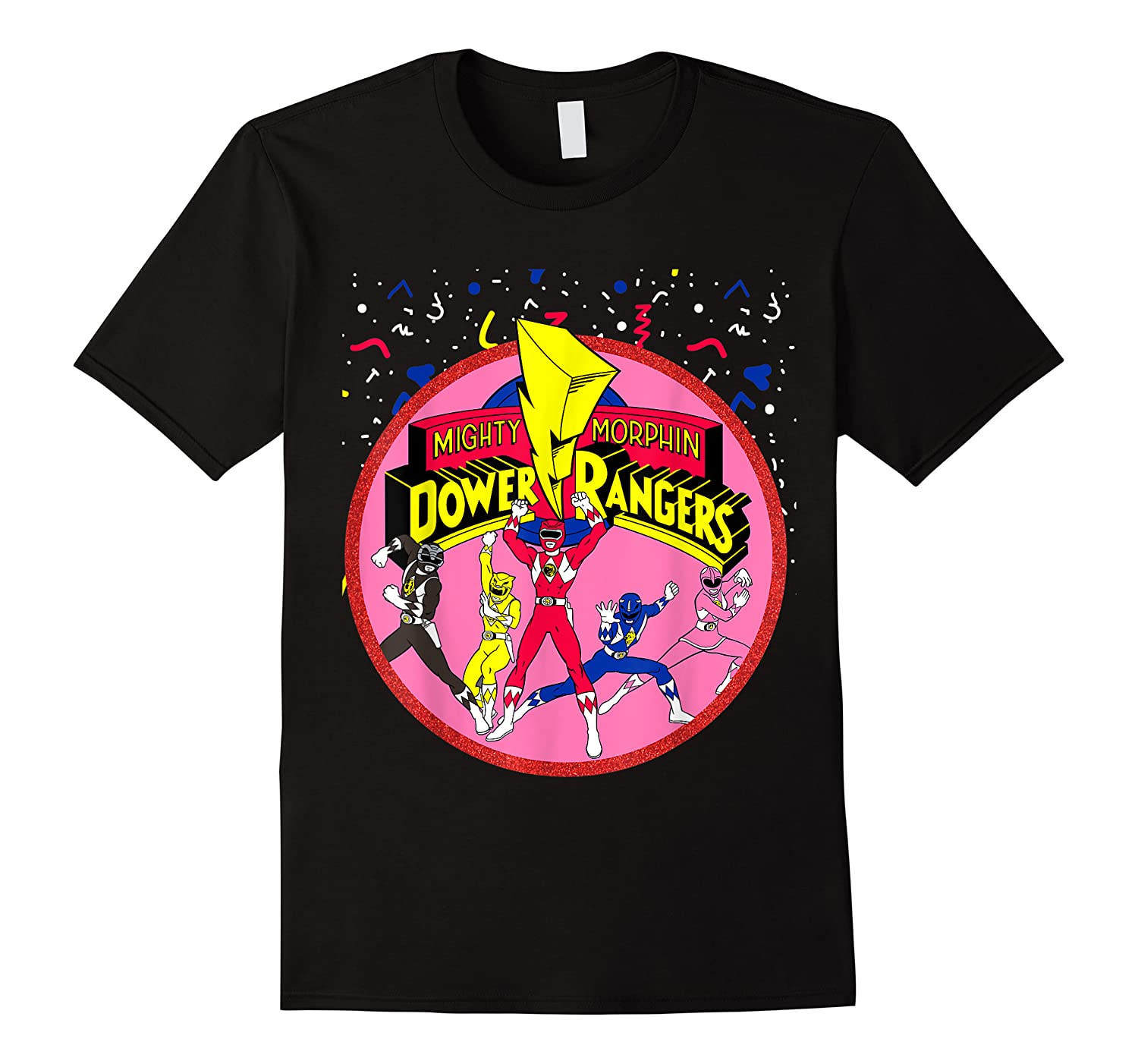 Power Rangers Pink Logo With Group Shirts