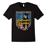 Worlds Best Rottweiler Grandpa Shirts Black