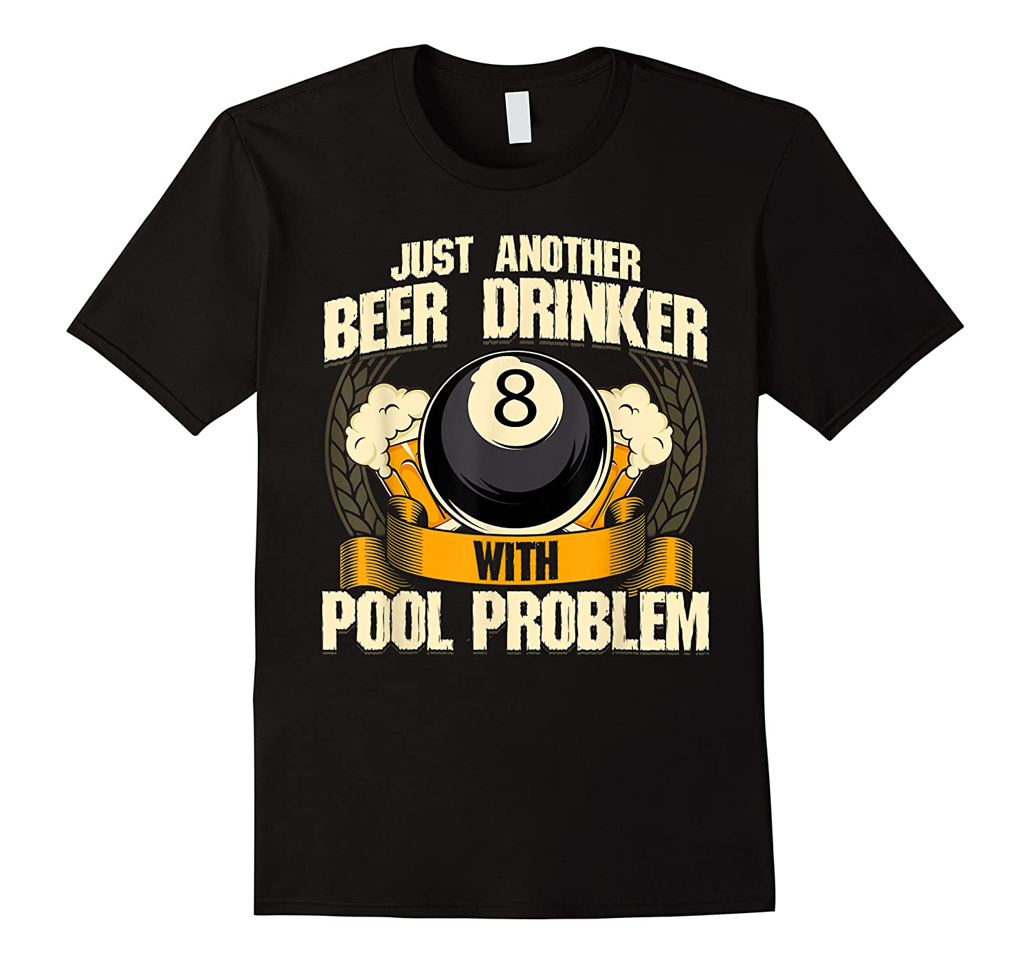 Beer Billiards For Pool Hall Pub With Mugs Suds Shirts