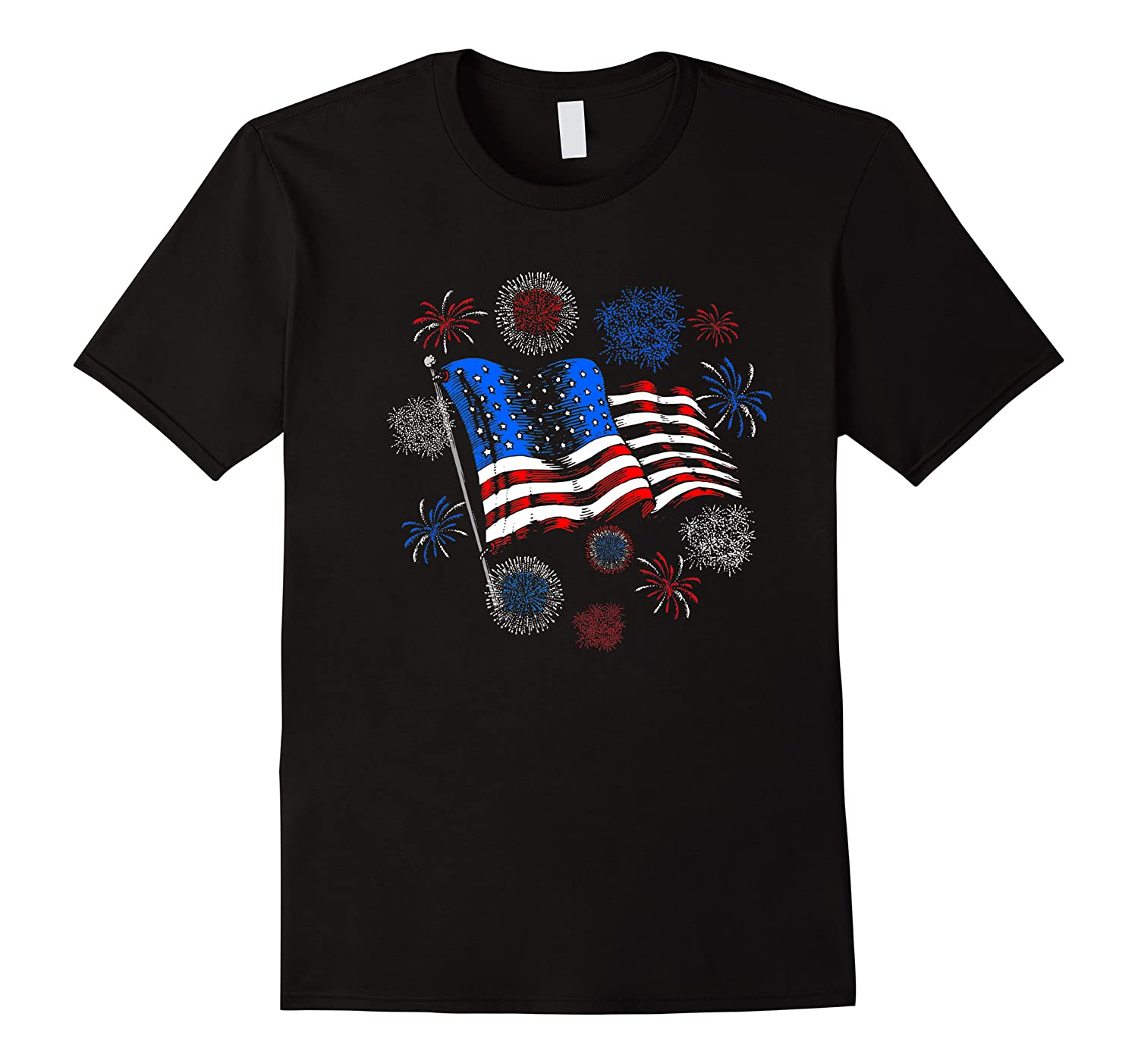 Fireworks 4th Of July American Flag Patriotic Sparklers Shirts