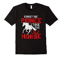 Rider Prefers Horses Shirts Black