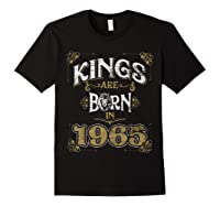 Kings Are Born In 1965 Bday Gifts 55th Birthday Shirts Black
