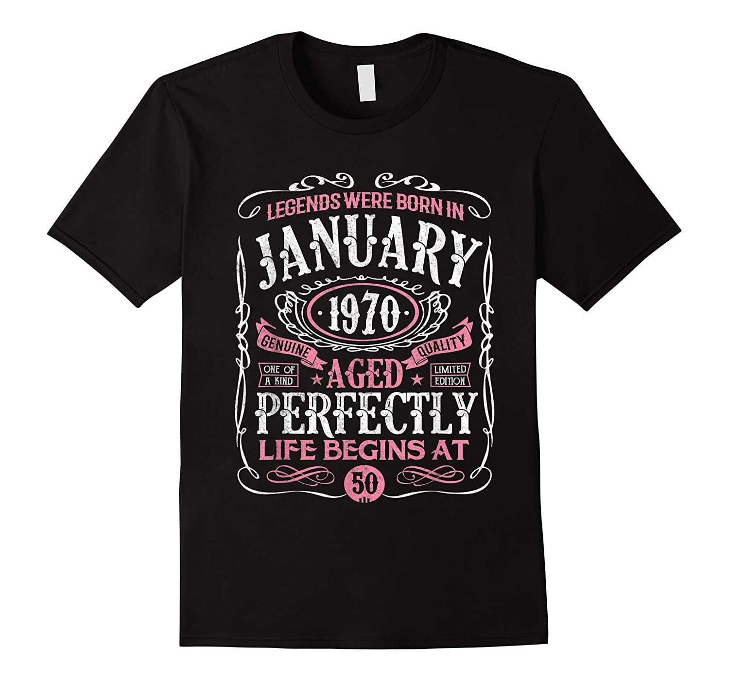 Legends Were Born In January 1970 50th Birthday Gift T-shirt