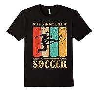 Retro Vintage Soccer Design 1970s T-shirt Black