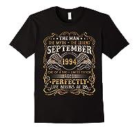 September 1994 Man Myth Legend 26th Birthday 26 Years Old Shirts Black
