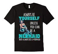 Cute Mermaid Gifts N Girls Mermaids Lover Gift Daughter Shirts Black