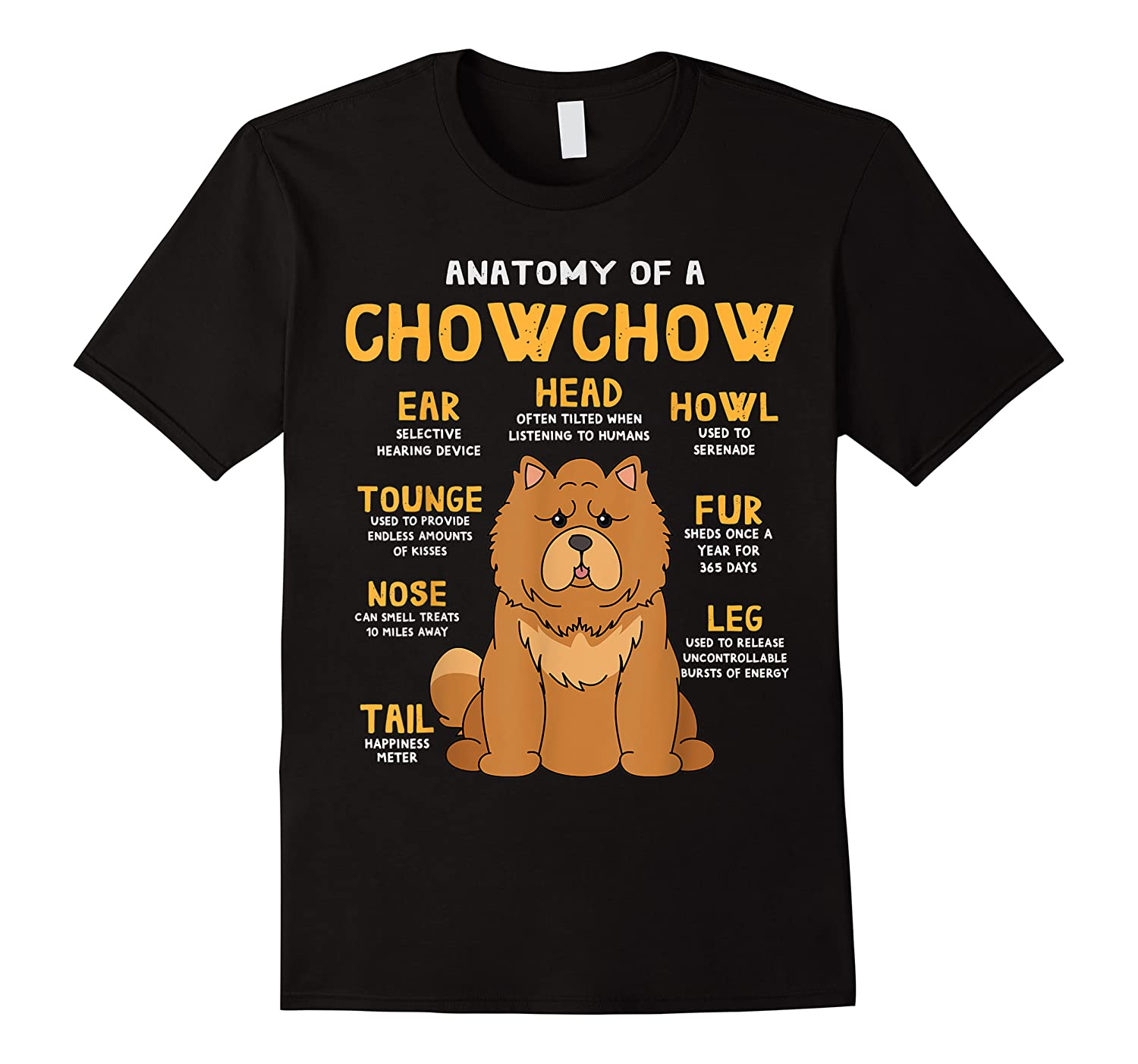 Chow Chow Funny Anatomy Of Mom Dad Dog Gift T-shirt