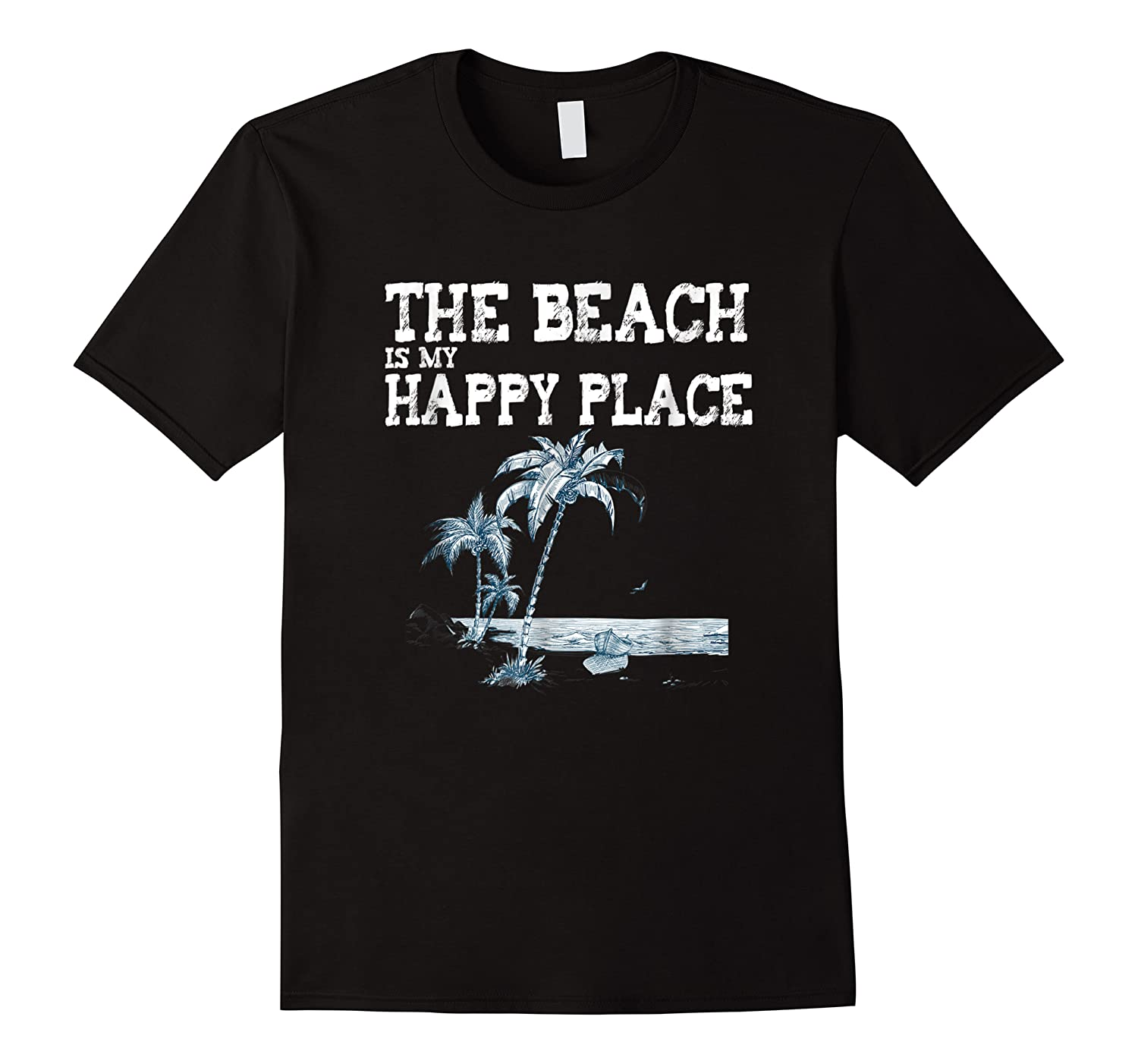 The Beach Is My Happy Place Summer Vacation Gift Shirts