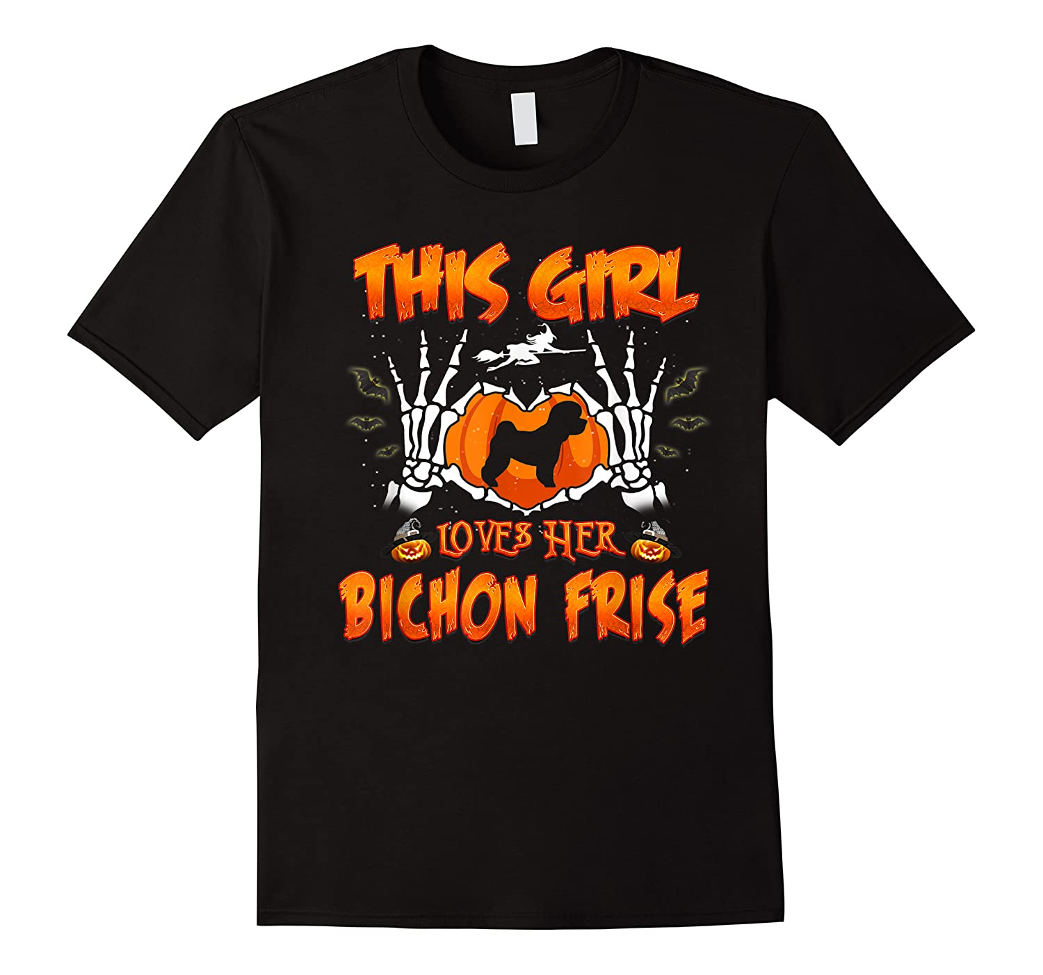 This Girl Loves Her Bichon Frise Dog Halloween Costume Shirts