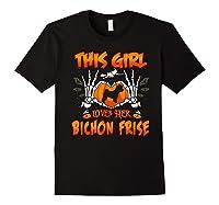 This Girl Loves Her Bichon Frise Dog Halloween Costume Shirts Black