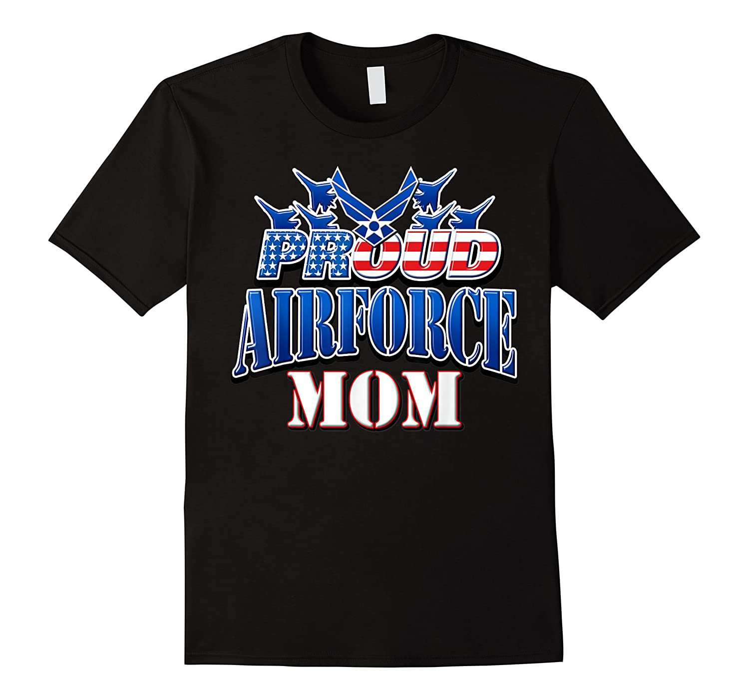 Proud Air Force Mom Shirt Mothers Day Patriotic Usa Military