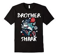 Brother Shark Doo Doo Bro Fun Uncle Birthday Gift Idea Shirts Black
