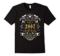 13 Years Old Made In 2007 13th Birthday, Anniversary Gift Shirts Black
