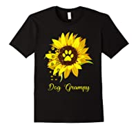 Dog Grampy Sunflower Gift Love Dogs And Flowers T-shirt Black