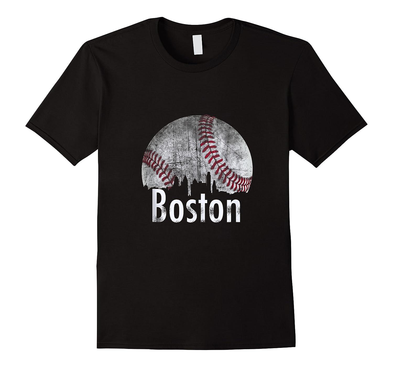 Vintage Boston Baseball Gifts Red Skyline Classic City Tank Top Shirts