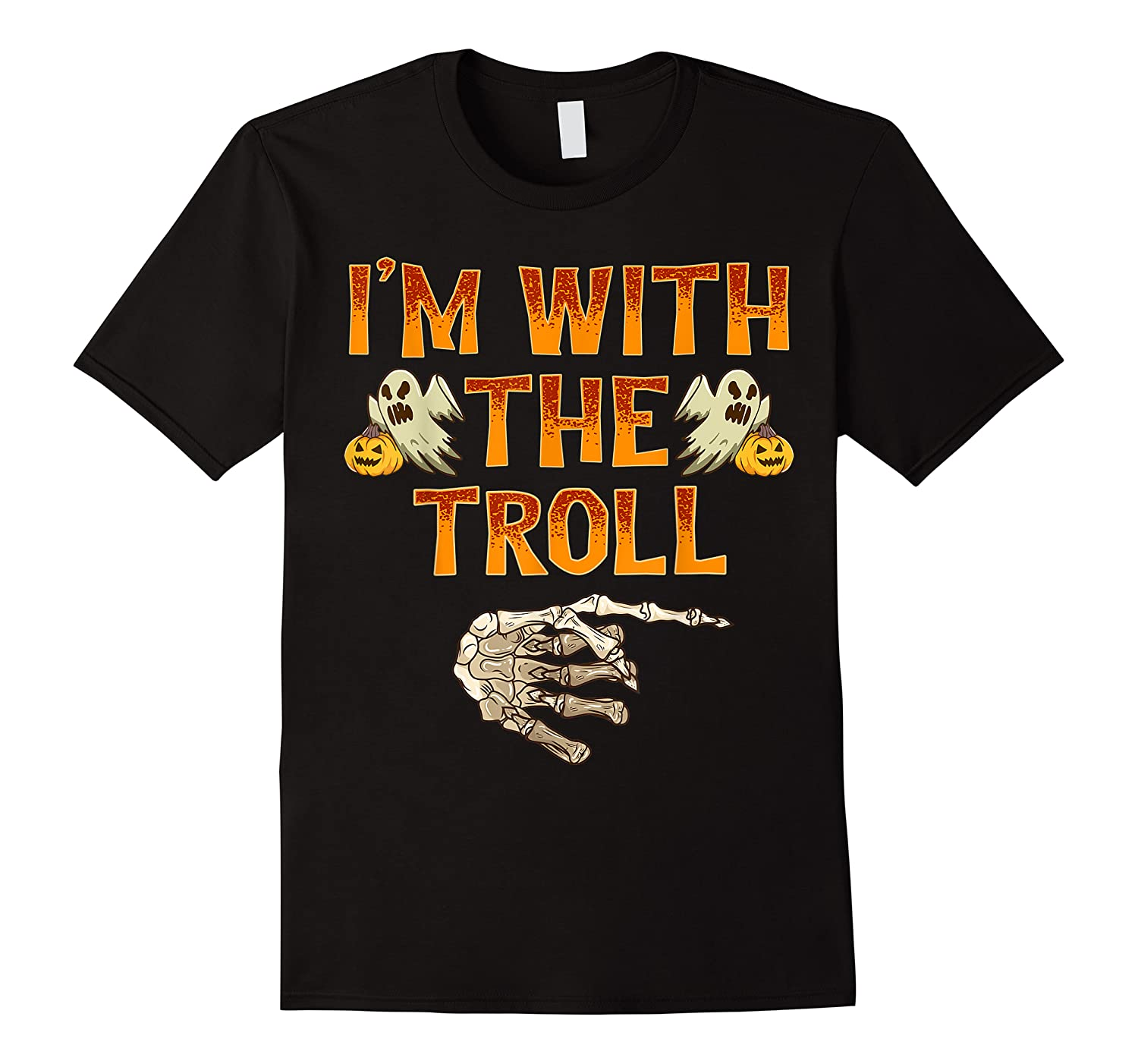 I'm With The Troll Costume Funny Halloween Couple Shirts